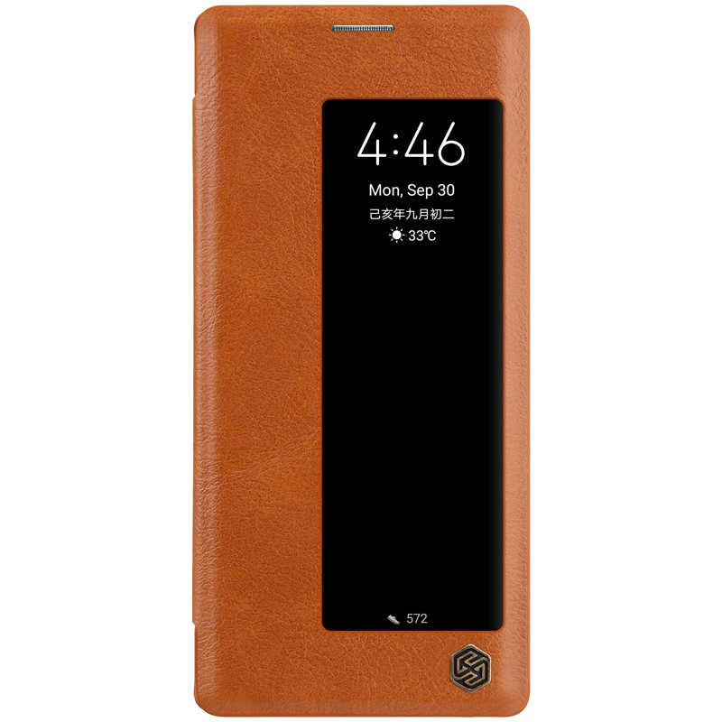 discount For Huawei Mate 30 Pro Nillkin Qin Leather Card Slot Flip Case Cover - Brown