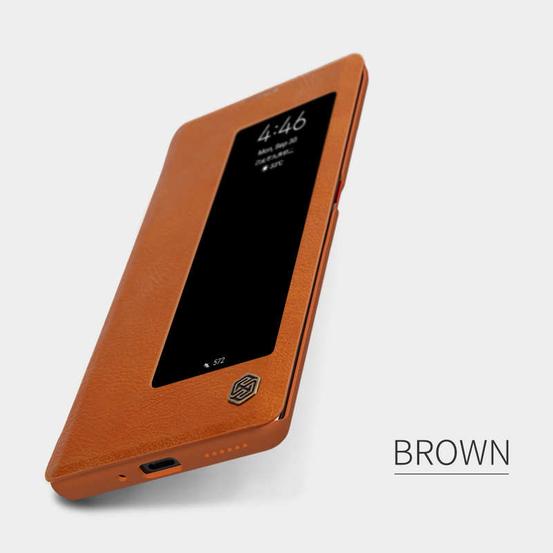 best price For Huawei Mate 30 Pro Nillkin Qin Leather Card Slot Flip Case Cover - Brown