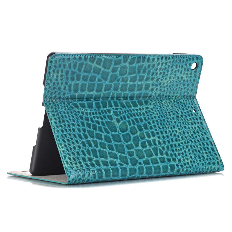 wholesale For iPad 7th 8th Gen 10.2 Crocodile Grain Leather Smart Folio Cover Case