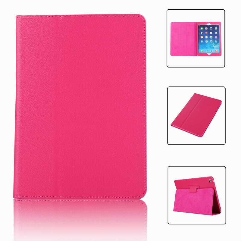 wholesale For iPad 7th Gen 2019 10.2 Stand Folio PU Leather Smart Case Cover - Hot Pink