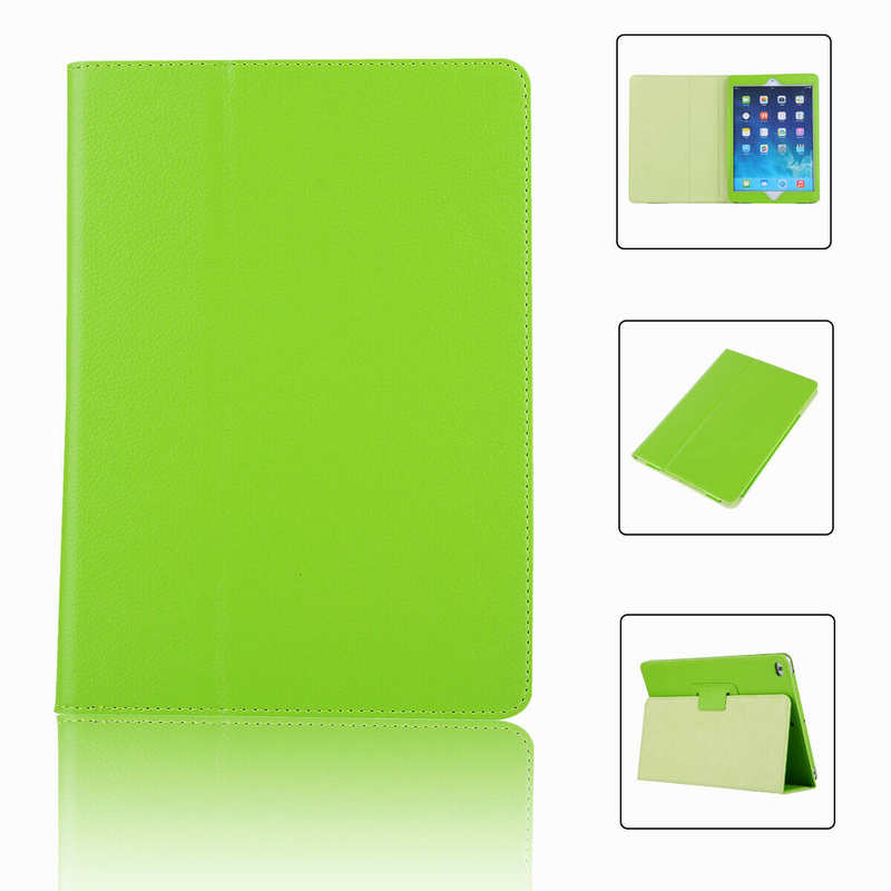 wholesale For iPad 7th Gen 2019 10.2 Stand Folio PU Leather Smart Case Cover - Green