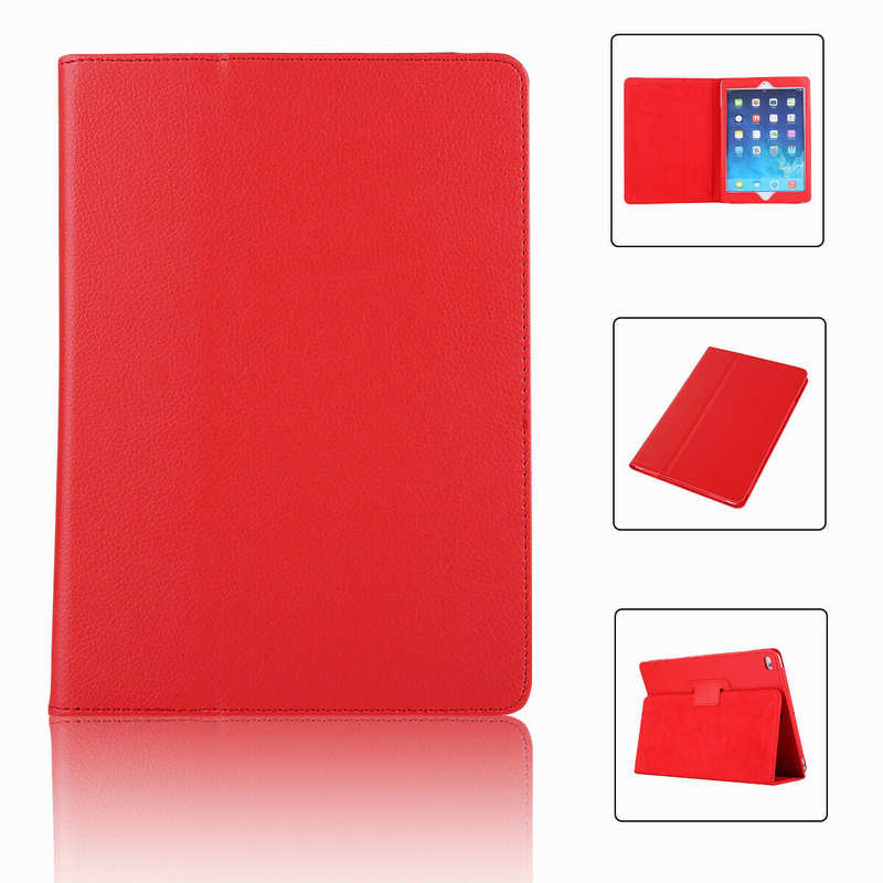 wholesale For iPad 7th Gen 2019 10.2 Stand Folio PU Leather Smart Case Cover - Red