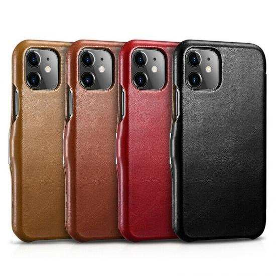 wholesale For iPhone 11 Pro ICARER 100% Genuine Real Leather Wallet Flip Cover Case