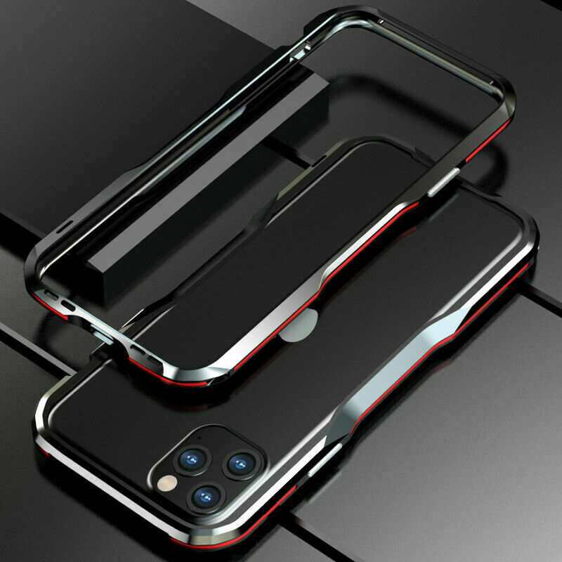 wholesale For iphone 11 Pro Max Metal Bumper Aluminum Hard Case Cover - Black&Red