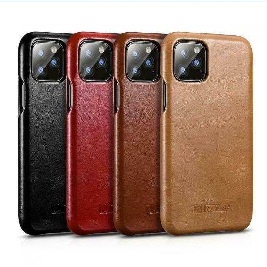 wholesale ICARER Cowhide Genuine Leather Case Cover For Apple iPhone 11 Pro Max