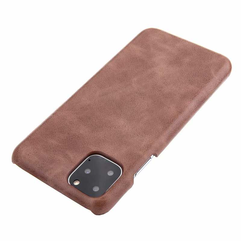 top quality Matte Genuine Leather Back Case Cover for iPhone 11 Pro Max - Dark Brown