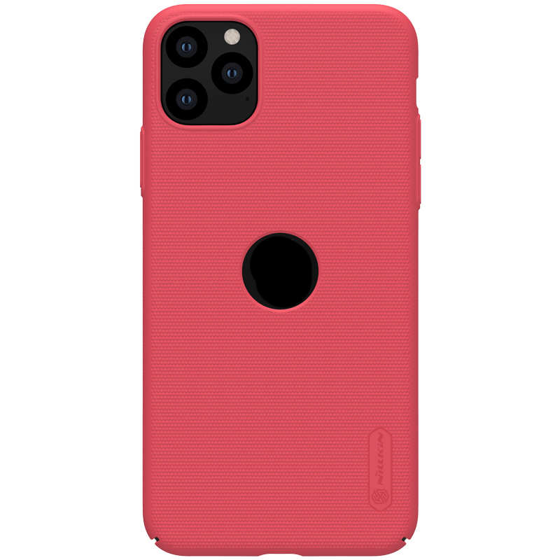 cheap Nillkin For iPhone 11 Pro Frosted Matte Shield Hard PC Shell Cover Case - Red