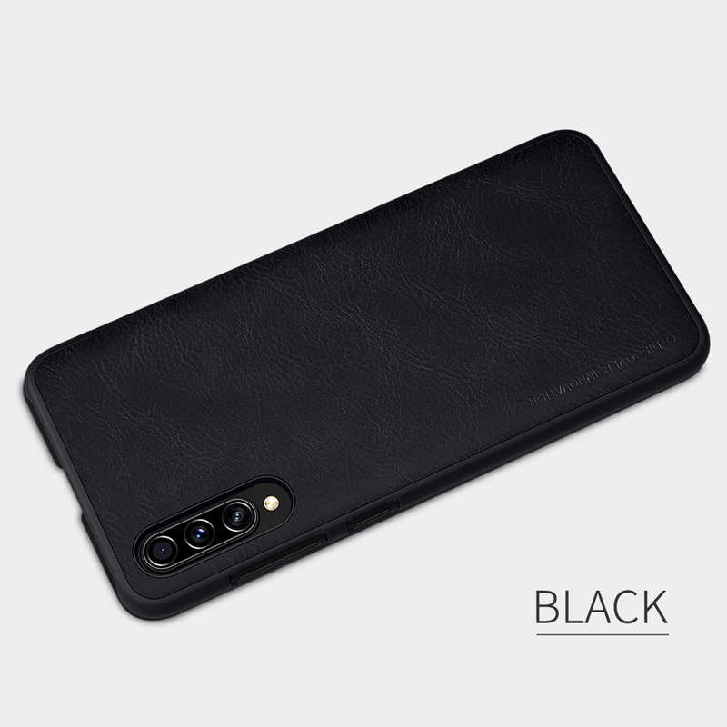 high quanlity Nillkin Qin Series Flip Leather Card Slot Case Cover For Samsung Galaxy A70S - Black