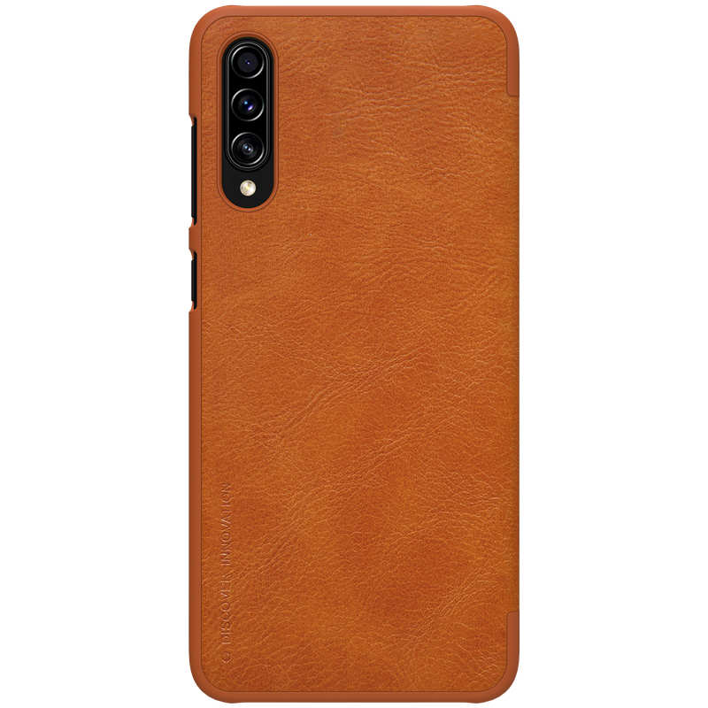 discount Nillkin Qin Series Flip Leather Card Slot Case Cover For Samsung Galaxy A70S - Brown