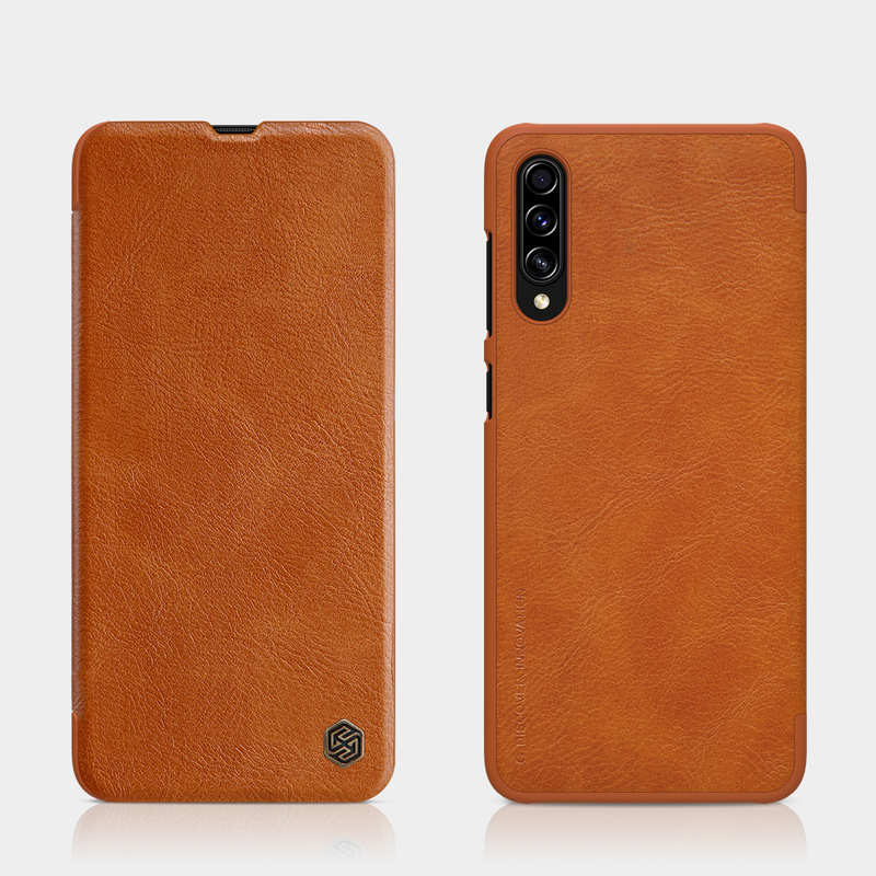 cheap Nillkin Qin Series Flip Leather Card Slot Case Cover For Samsung Galaxy A70S - Brown
