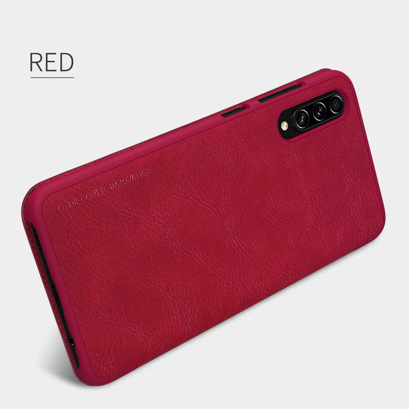 best price Nillkin Qin Series Flip Leather Card Slot Case Cover For Samsung Galaxy A70S - Red