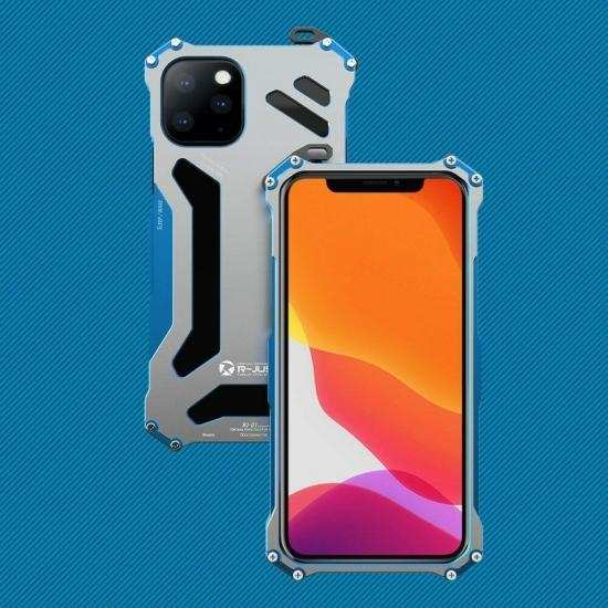 cheap R-just Shockproof Metal Aluminum Case Cover For iPhone 11 Pro Max
