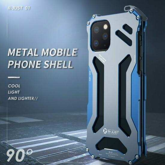 top quality R-just Shockproof Metal Aluminum Case Cover For iPhone 11 Pro Max