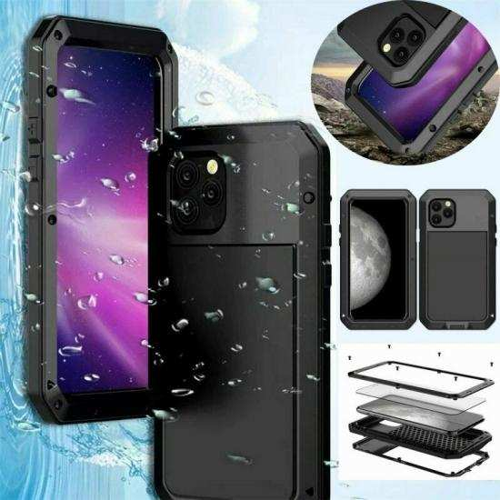 discount Shockproof Gorilla Glass Metal Aluminum Bumper Case For iPhone 11 Pro Max