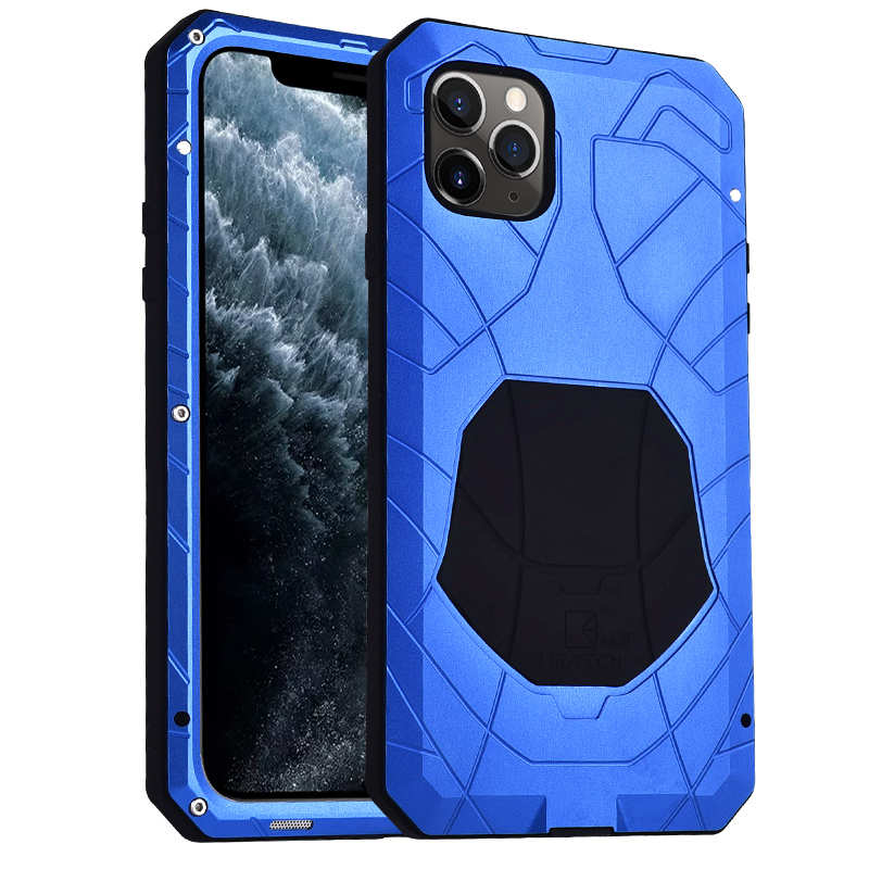 wholesale Shockproof Metal Case Aluminum Cover for iPhone 11 Pro Max - Blue