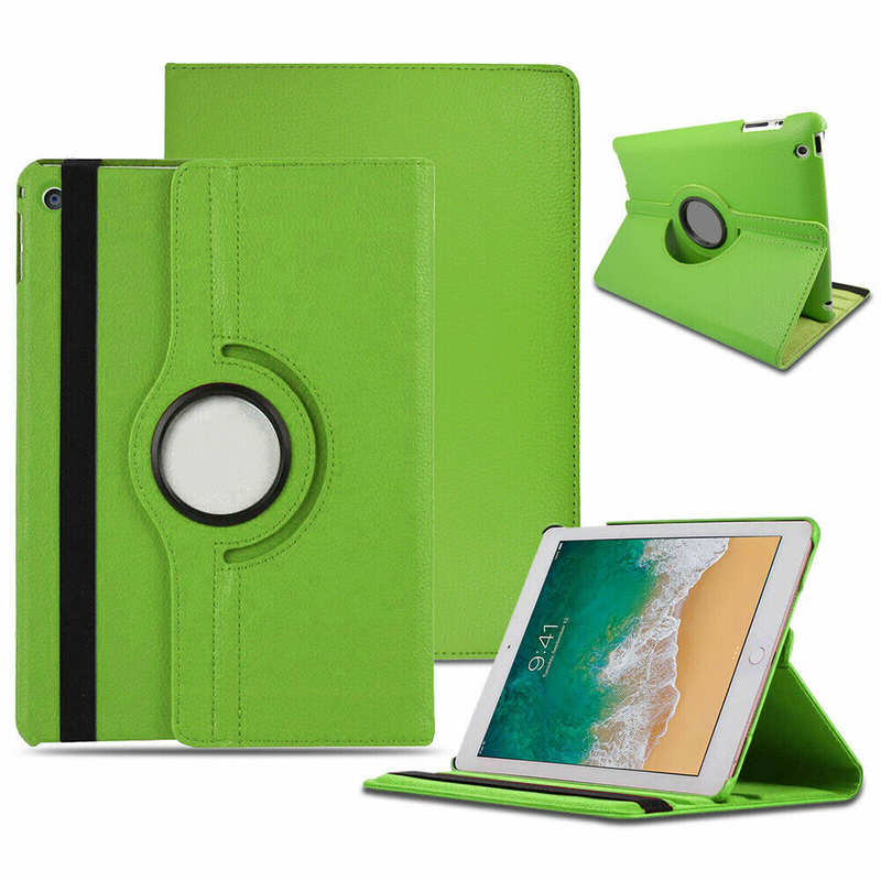 wholesale 360 Rotating Leather Case For iPad 7th 8th Generation 10.2 Smart Stand Cover - Green