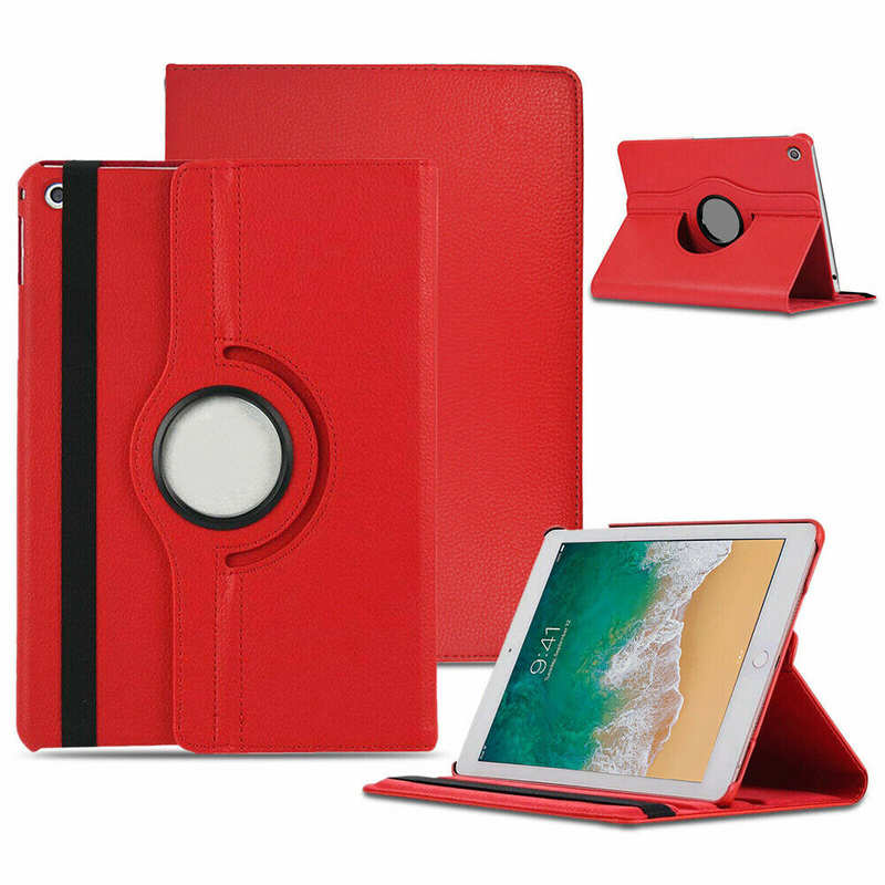 wholesale For iPad 10.2 7th 8th Generation Case 360° Rotating PU Leather Magnetic Smart Stand Cover - Red