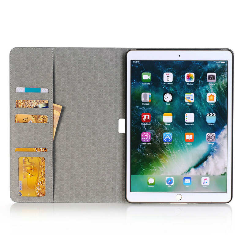 discount For iPad 7th Gen 10.2 2019 Ultra thin Leather Smart Wallet Cover Case - Grey