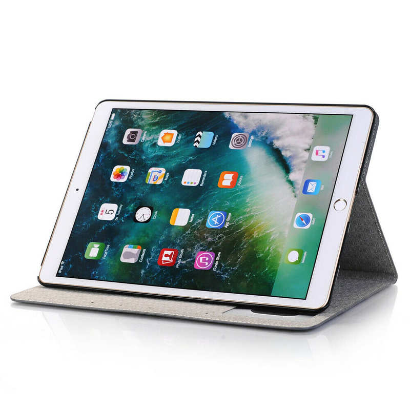 cheap For iPad 7th Gen 10.2 2019 Ultra thin Leather Smart Wallet Cover Case - Grey