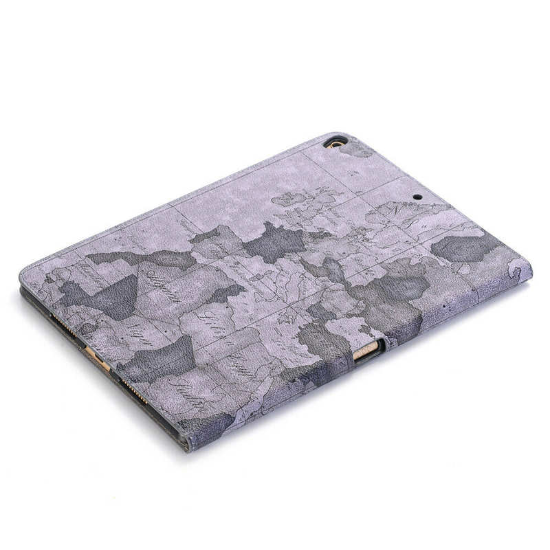 top quality For iPad 7th Gen 10.2 2019 Ultra thin Leather Smart Wallet Cover Case - Grey