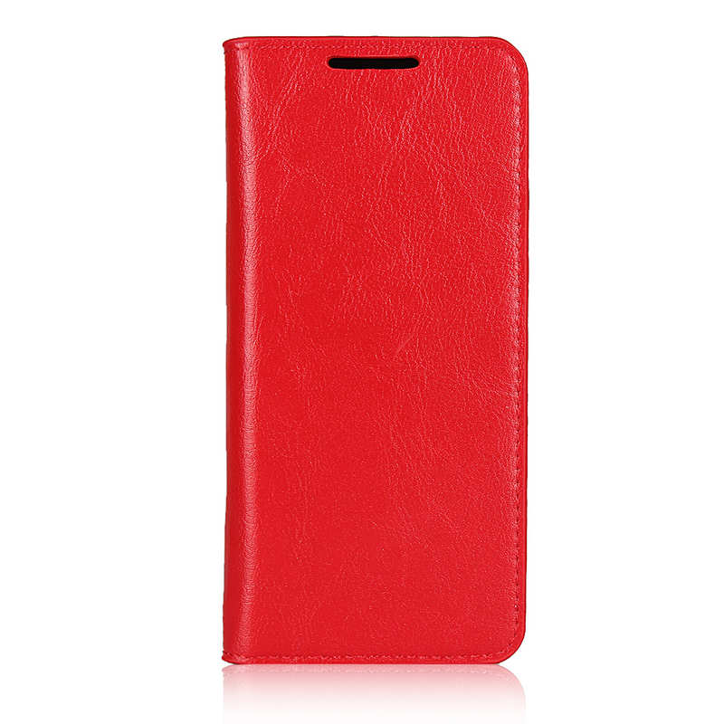 discount For Samsung Galaxy S20 - Genuine Leather Case Wallet Stand Phone Cover - Red