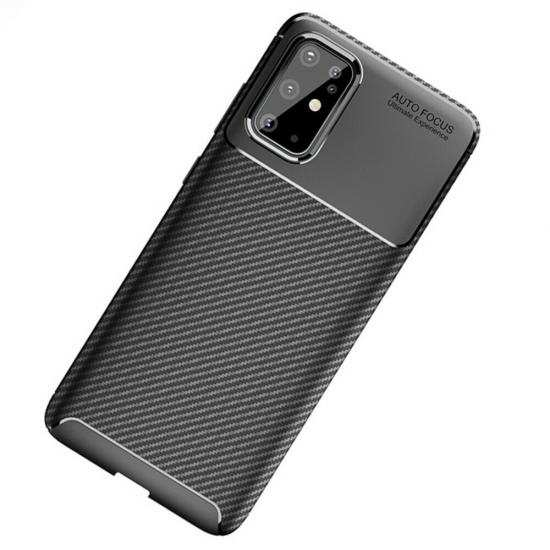wholesale For Samsung Galaxy S20 Ultra - Carbon Fiber Soft Silicone Back Cover Case