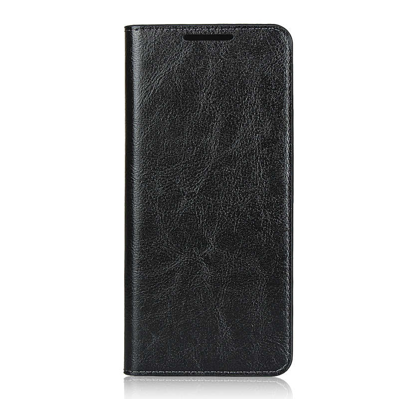 discount For Samsung Galaxy S20 Ultra - Genuine Leather Case Wallet Stand Phone Cover - Black