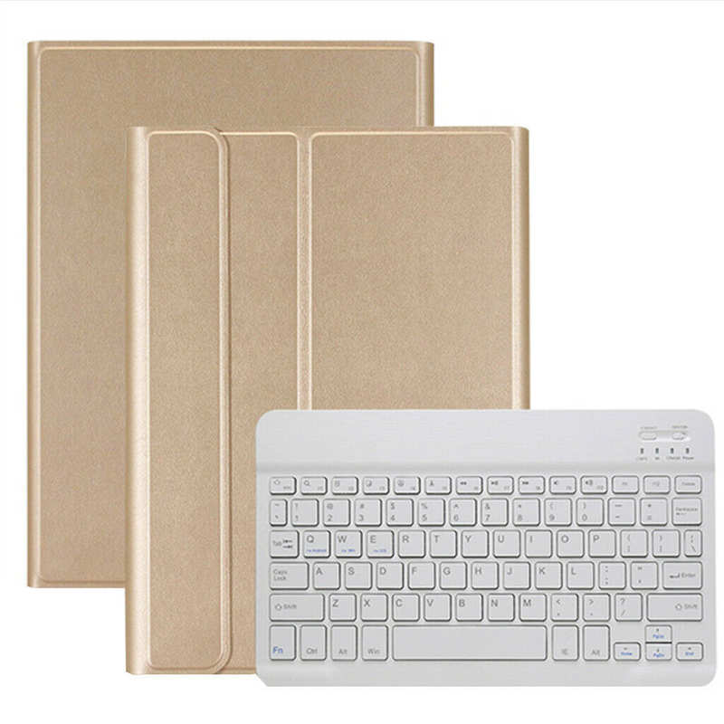 wholesale For Samsung Galaxy Tab A 10.1 2019 T510 T515 Tablet Keyboard Leather Case Cover - Gold
