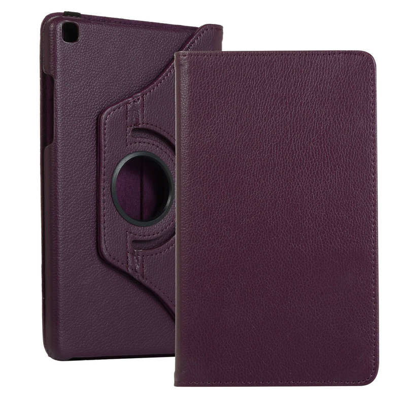 wholesale For Samsung Galaxy Tab A 8.0 2019 T290/T295 360 Rotating Leather Case Cover Stand - Purple
