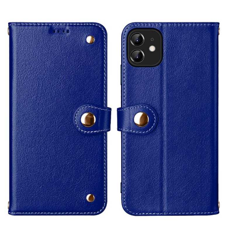 wholesale For iPhone 11 Pro Max 100% Genuine Leather Wallet Card Case Cover - Blue