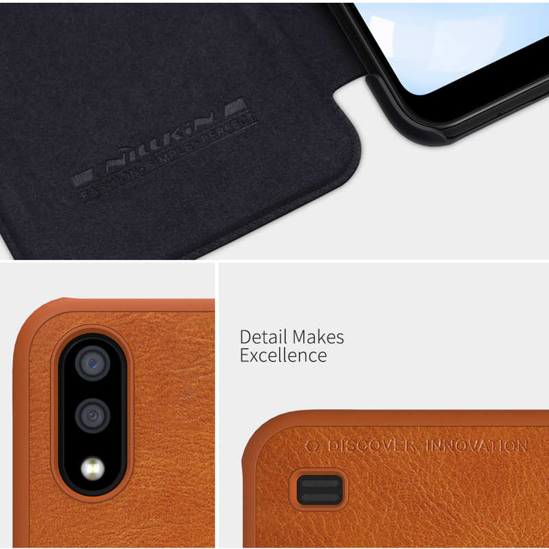 best price For Samsung Galaxy A01 - Nillkin Qin Leather Case Shockproof Card Slot Flip Case Cover