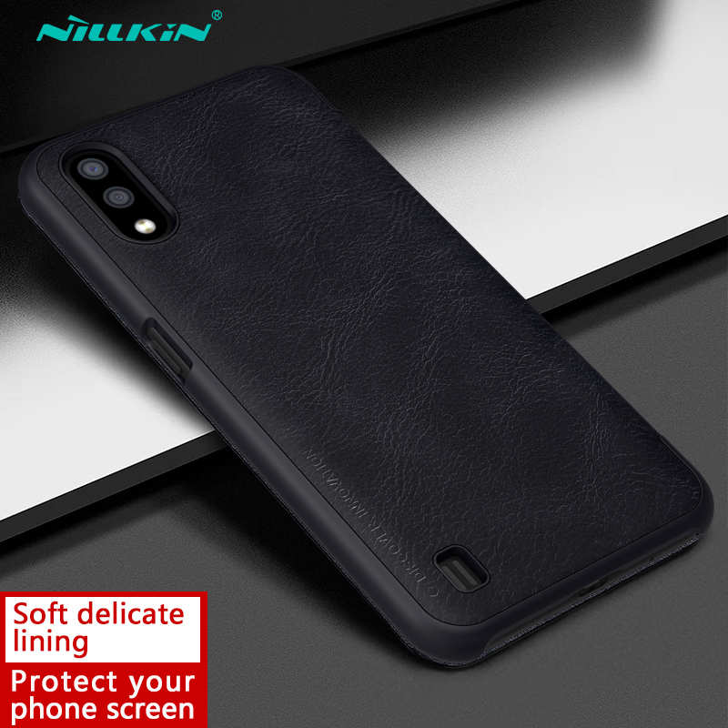 on sale For Samsung Galaxy A01 - Nillkin Qin Leather Case Shockproof Card Slot Flip Case Cover