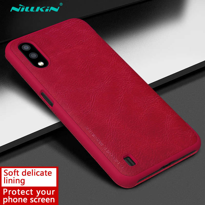 high quanlity For Samsung Galaxy A01 - Nillkin Qin Leather Case Shockproof Card Slot Flip Case Cover