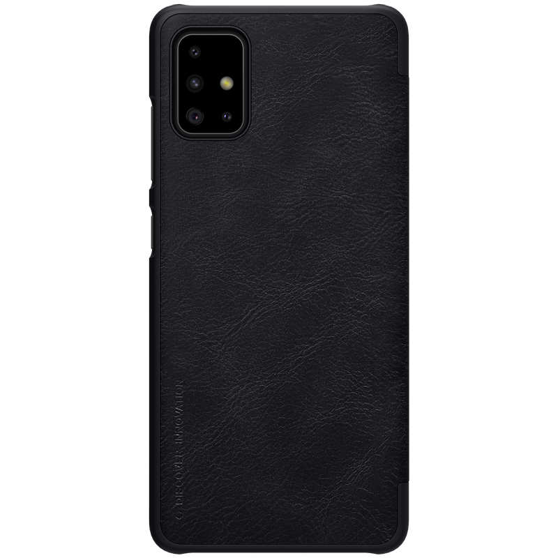 discount For Samsung Galaxy A51 - Nillkin Qin Leather Case Shockproof Card Slot Flip Case Cover - Black