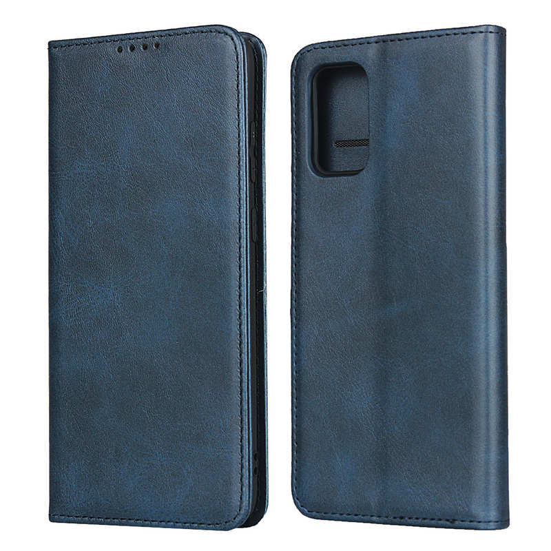 wholesale For Samsung Galaxy S20 Plus Magnetic Leather Wallet Flip Case Card Slot - Dark Blue