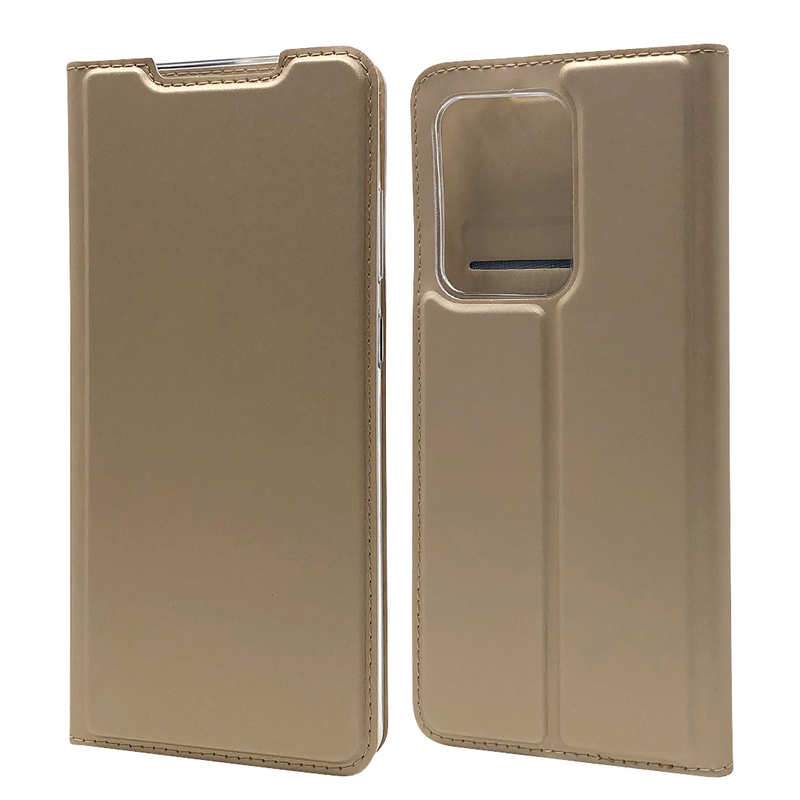 wholesale For Samsung Galaxy S20 UItra - Case Magnetic Flip Leather Wallet Stand Cover - Gold