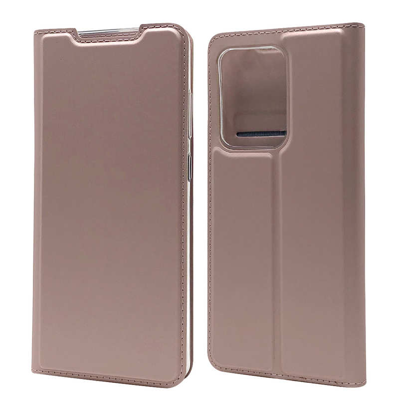 wholesale For Samsung Galaxy S20 UItra - Case Magnetic Flip Leather Wallet Stand Cover - Rose Gold