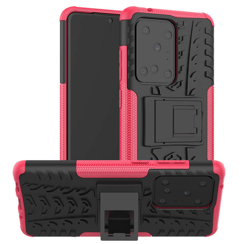 wholesale For Samsung Galaxy S20 Ultra - Case Armor Shell Heavy Duty PC Phone Cover - Hot Pink