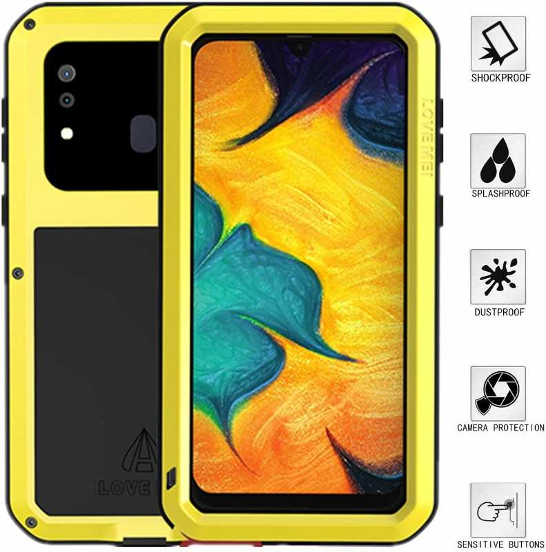 wholesale LOVEMEI Powerful Metal Waterproof Case Cover for Samsung Galaxy A20 - Yellow