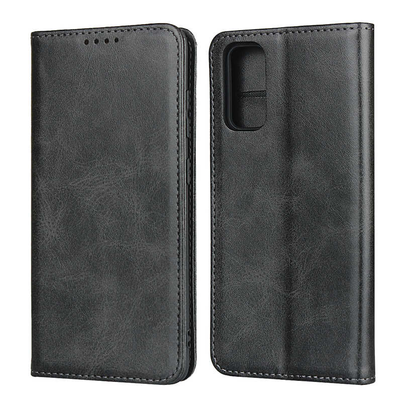 wholesale For Samsung Galaxy S20 Ultra Magnetic Leather Card Slot Flip Wallet Case - Black