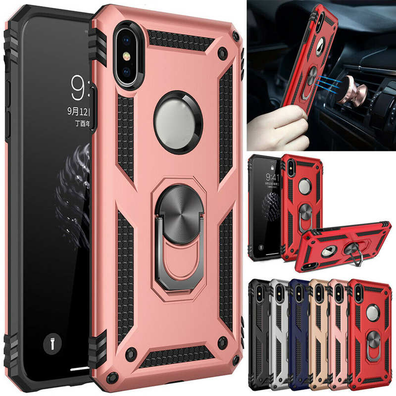 wholesale For iPhone SE 2020 11 Pro X XS Max XR 8 7 6s 6 Plus Phone Case Shockproof Armor Ring Holder Stand Cover