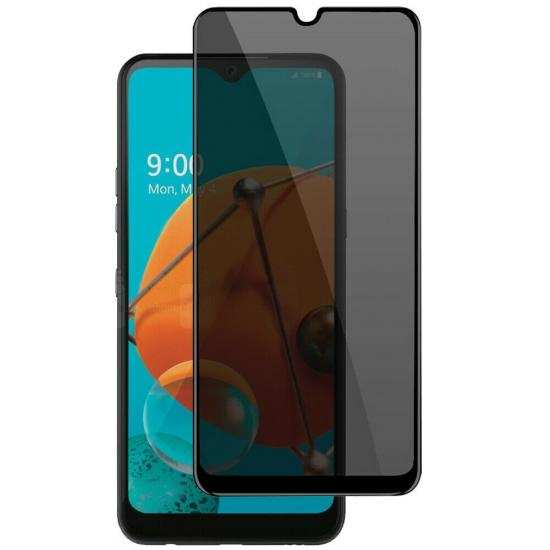discount For LG K51 Full Coverage Privacy Anti-Spy Tempered Glass Screen Protector