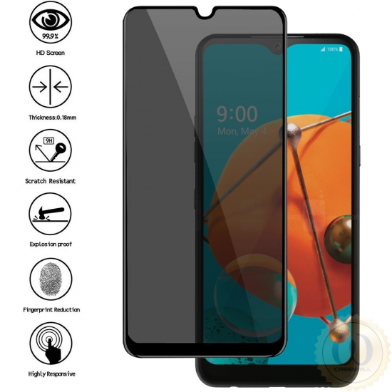 top quality For LG K51 Full Coverage Privacy Anti-Spy Tempered Glass Screen Protector