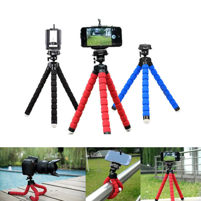 discount Universal Mobile phone Stand Tripod Mount Holder for Samsung iPhone