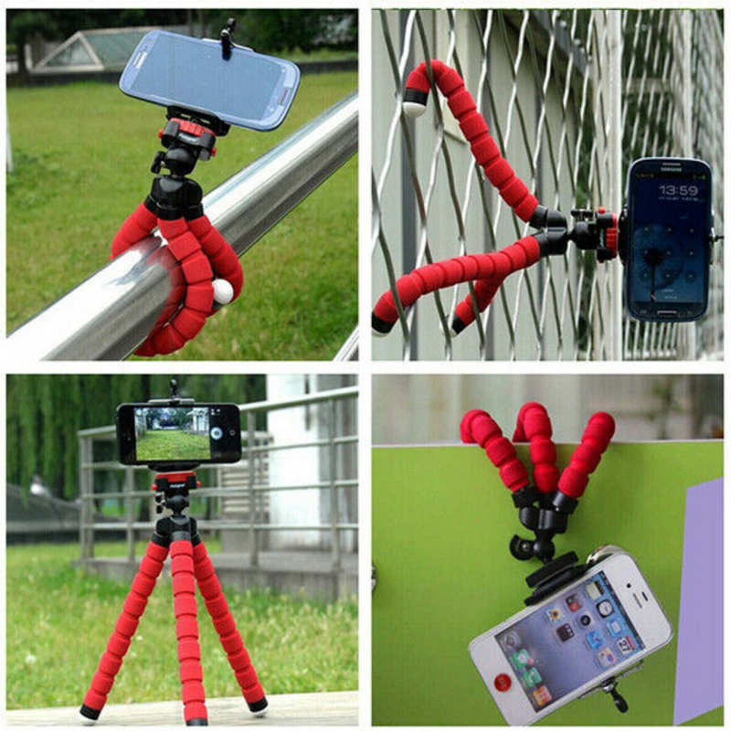 cheap Universal Mobile phone Stand Tripod Mount Holder for Samsung iPhone