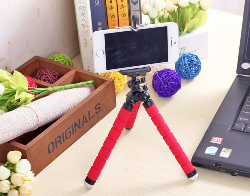 best price Universal Mobile phone Stand Tripod Mount Holder for Samsung iPhone