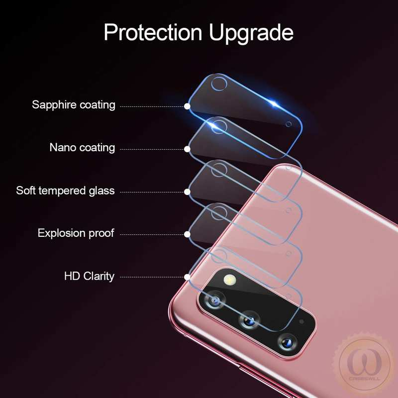 on sale 3PCS For Samsung Galaxy S21 Plus Ultra A71 A51 5G UW A21 Tempered Glass Camera Lens Screen Protector