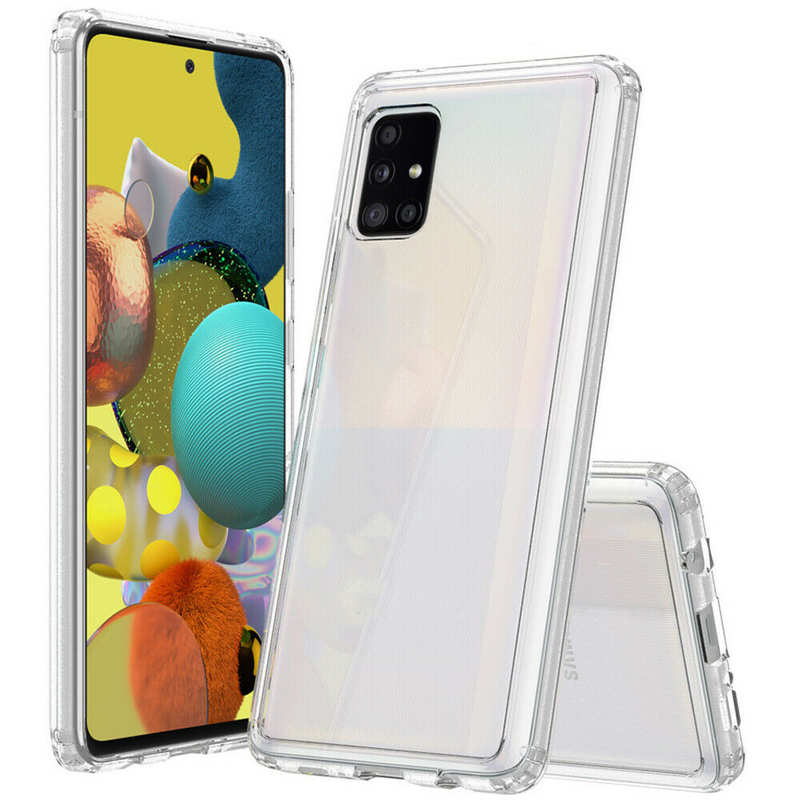 discount For Samsung Galaxy A71 5G UW Phone Case Clear Acrylic Shockproof Bumper Cover