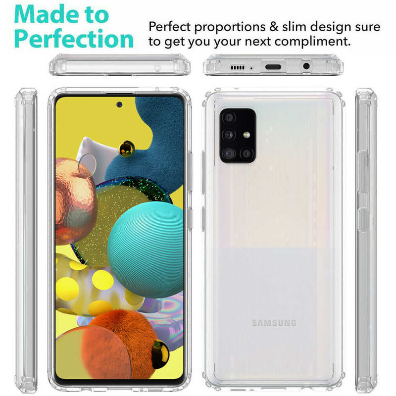 cheap For Samsung Galaxy A71 5G UW Phone Case Clear Acrylic Shockproof Bumper Cover