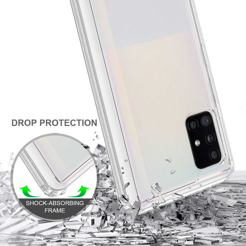 top quality For Samsung Galaxy A71 5G UW Phone Case Clear Acrylic Shockproof Bumper Cover